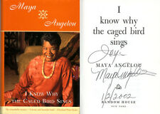 Maya Angelou SIGNED AUTOGRAPHED I Know Why The Caged Bird Sings HC RARE