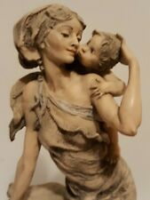 """Giuseppe Armani 1993 """"Soft Kiss"""" Mother & Baby Sculpture Statue 977/2500 #1000/T"""