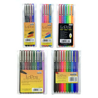 Uchida Le Pen 0.3mm Fine Point Markers Set 4 or 10 Assorted Colors