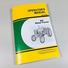 Operators Manual For John Deere 435 Diesel Tractor Owners Maintenance Book