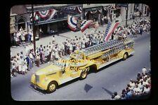 1947 Ladder Fire Truck at Waynesboro, Pennsylvania, Orig. Kodachrome Slide c1a
