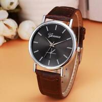 Women Men Leather Band Watch Classic Analog Alloy Quartz Wrist Watches