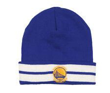 MITCHELL & NESS Golden State Warriors Team Stripe Beanie Adult One Size Blue