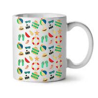 Beach Summer Sea Holiday NEW White Tea Coffee Mug 11 oz | Wellcoda