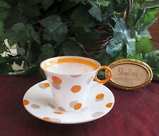 SHELLEY Fine Bone China  **POLKA DOT**, #12210  Cup & Saucer  REGENT Shape RARE!