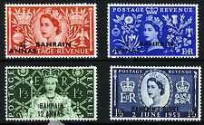BAHRAIN 1953 Complete Overprinted Coronation Set SG 90 to SG 93 MINT