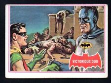 VICTORIOUS DUO 1966 TOPPS BATMAN PUZZLE A RED BAT #28 A   VERY GOOD NO CREASES