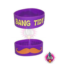 COSMIC BANG TIDY WRIST BAND WRISTBAND WITH MUSTACHE FUNNY BRACELET RUBBER