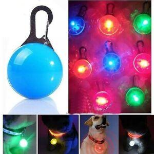 MaCeyEx PET DOG CAT COLLAR LED PENDANT Safety Tag Luminous Flashing Push Button