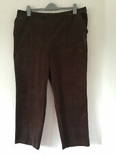 Ladies Timeless Brown Winter Corduroy Trousers Half elasticated Back  Size 14 L