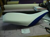 Yamaha Raptor 660 Blue and White Seat Cover #hcs433c426