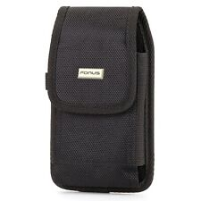 Rugged Canvas Case Holster Rotating Belt Clip Cover J1J for Cell Phones