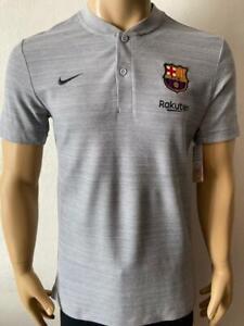 Polo shirt mao neck Barcelona 2018-19 Training Player Issue Kitroom with sponsor