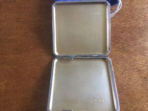 London Sterling Silver Engine Turned Cigarette Case