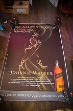 JOHNNIE WALKER A 4x6 ft Bus Shelter Original Food Alcohol Advertising Poster