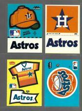 Vintage 80's HOUSTON ASTROS Sticker Lot of 4