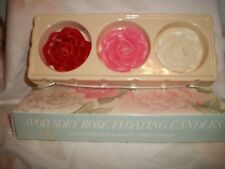 Avon Soft Rose Floating Candles Delicate Rose Fragrance