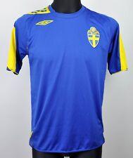SWEDEN Away National Football Shirt 2006 2008 Men's Small Jersey S Trikot Top