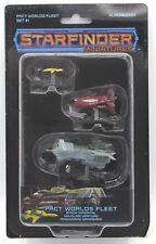 Starfinder Miniatures NJD060201 Pact Worlds Fleet Set #1 (Painted) Ship Starship