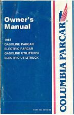 1988 Columbia Parcar Owner's Manual