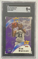 1997-98 Fleer Ultra TIM DUNCAN RC Star Power Rookie Card SGC 9 - PSA Spurs HOF