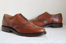 VINTAGE marrone in pelle all'Inglese Paese Brogues Lacci Scarpe UK 10 Da Uomo Geek 60 S