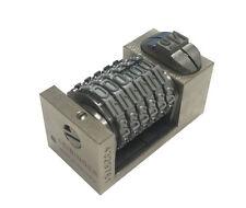 Leibinger Letterpress Numbering Machine Model 10 6 Digit Backwards