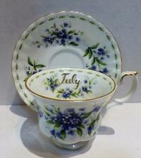 Royal Albert JULY Tea Cup & Saucer Flower of the Month England