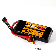 VOK Lipo Battery for RC Helicopter Airplane Car T-Plug 11.1V 1500mAh 25C 3S NEW