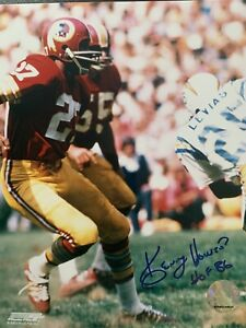 Kenny Houston Wasshington Redskins Autographed 8x10 Photos COA