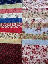 40 x 5' CHARM SQUARES 2 X20 Dainty Flowers 100% Cotton Fabric Sewing Material N1