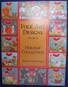 FOLK ART DESIGNS Book Vol 6 HOLIDAY COLLECTION Scrapbook Ideas Pattern VINTAGE