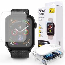 WHITESTONE DOME Tempered Glass Fullcover 9H 0.3MM CURVED APPLE WATCH 4 44MM