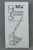Überraschungsei Zettel von 1988 ca. 2,5 x 5 cm Kapsel-Baustein Pinsel BPZ