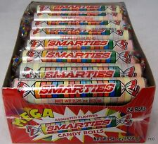Mega Smarties 24 ct Box Rolls Candy Smarty Ce De Candy Bulk Candies Smartie Roll