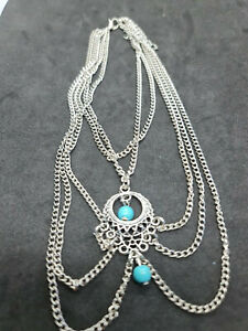 anklet turquoise silver free size ladies