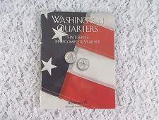 H.E. Harris Washington Quarters State Series 1999 Complete Set Coin Folder  NEW!