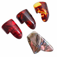 New 1 Thumb And 3 Finger Plastic Nail Plectrums Guitar Picks Set