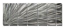 Silver Contemporary Metal Wall Sculpture - Modern Metal Art - Complex Energy