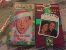Lot Of 2 The Andy Griffith Show - A Christmas Story (VHS, 1992) Bob Newhart Show