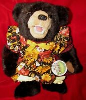 VINTAGE BLACK TEDDY BEAR RARE W TEETH ARTIST BEAVER VALLEY ZOES FRIENDS TAG 16""