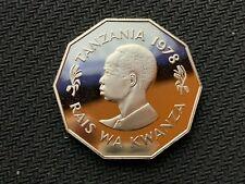 1978 Tanzania 5 Shilingi Coin  PROOF   FAO ISSUE     Mirrored World Coin   #C836