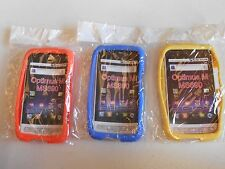 (LOT OF 3) NEW Silicone SOFT Case ORANGE YELLOW and BLUE for LG Optimus M MS690