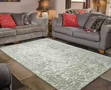 Mayfair Dorchester Grey Modern Handmade Wool Viscose Rugs 120x170cm