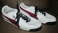 Puma Roma 353572 25 Mens Sport Fashion Sneakers Shoes Size 14 White Maroon Black