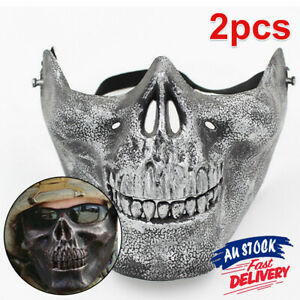 2 x Dancing Masquerade Party New Skull Face Mask Halloween Costume