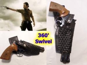 "Rick Grimes WALKING DEAD Style Leather Gun Holster for COLT Python 6"" & Similar"