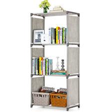 4-Shelf Bookcase Book Shelves Bookshelf Storage Bin Books Display Shelving V4M7