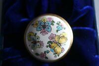 Pretty Halcyon Days 'Butterflies' Enamel Pill Box