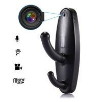 HD Motion Detection Spy Clothes Hook Hidden Camera Video DV DVR Cam Support 16GB